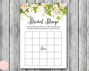 Bridal Shower Bingo Cards, Printable Bridal Bingo, Gift Item Bingo, Bridal shower game, Bridal shower activity, Printable Game TH01