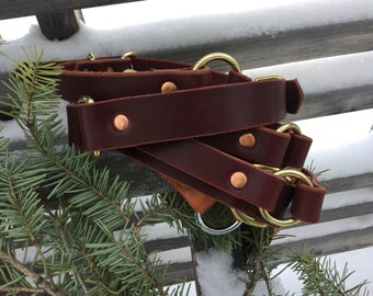 Water-dog leather collar