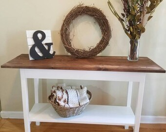Farmhouse EntrywayTable with Bottom Shelf / Sofa Table / Foyer Table / Console / TV Stand