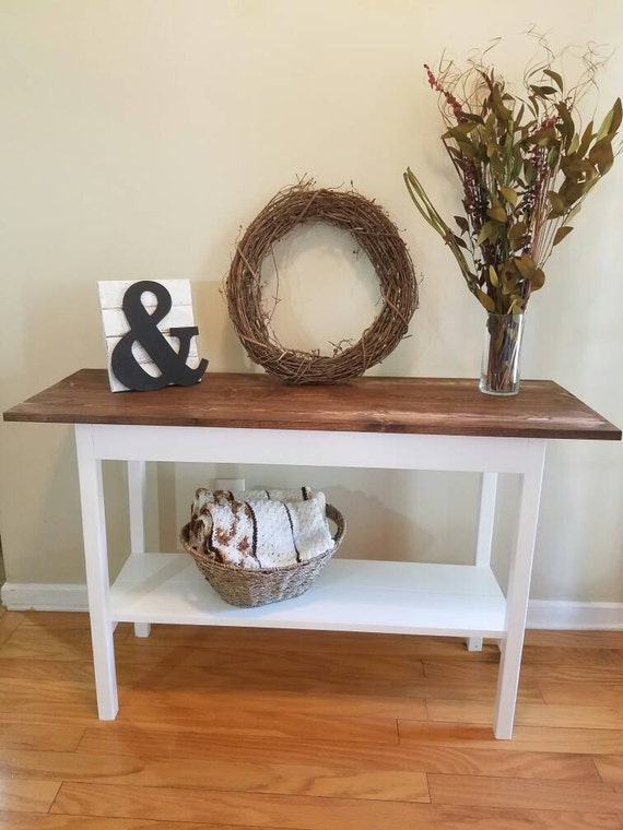 Foyer Table Farmhouse : Farmhouse entrywaytable with bottom shelf sofa table foyer