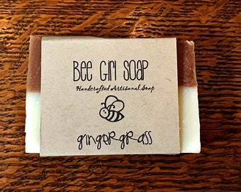 Gingergrass  Handmade Artisanal Olive Oil Soap Made With Beewax