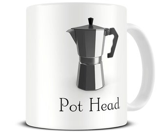 Funny Coffee Mug - Coffee Pot Head Mug - funny mugs - MG499