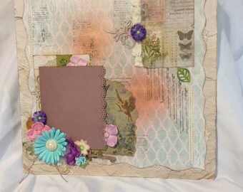 Mixed Media Scrapbooking Page