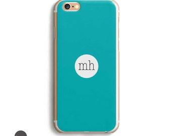Turquoise Iphone Case, Phone 6s Custom Case, Monogram For Iphone, Custom Cell Phone Case, Available for: iPhones 5/5se/5s/6/6s/6s plus