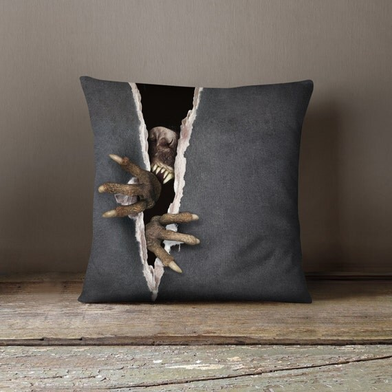 Creepy Halloween Pillow