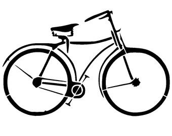 """8.3/11.7 """" vintage bicycle stencil 1. A4"""
