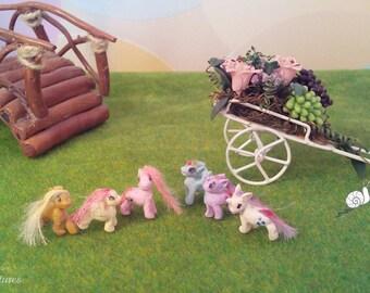 "Made to Order.The set of ""My little pony and Spike"". Dollhouse miniature.Набор ""Мои маленькие пони и Спайк"". Кукольная миниатюра"