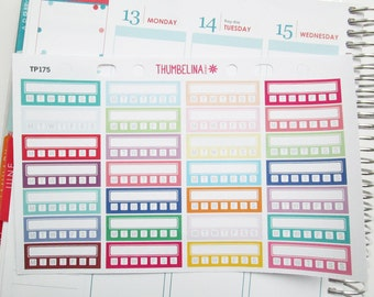 Habit Sidebar Stickers for the Erin Condren Life Planner and more (TP175)