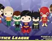 Superhero clipart, Justice League clipart, DC clipart, comic clipart, super hero clipart, hero clipart, heroes clipart, superman -LN0100-