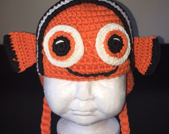 Orange fish crochet hat, fish hat, orange hat,orange knit hat, knitted fish hat, fish costume, baby fish hat, crochet fish