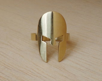 SPARTAN HOPLITE Hippeis, Ancient, Greek, Warrior, Helmet, Artisan, Handcrafted, Spartan ring, Spartan Necklace, Spartan Charm, Gift Idea