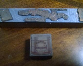 Pair of Vintage Advertising Printers Blocks