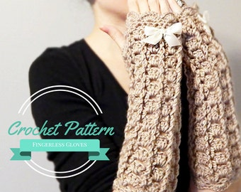 Lacy Fingerless Gloves Crochet Pattern Wrist Warmers