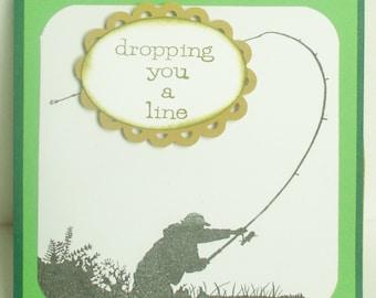 Fly Fishing Men's Happy Birthday Easel Card