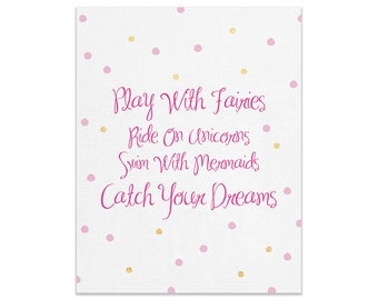 Catch Your Dreams Wall Print | Made In Australia