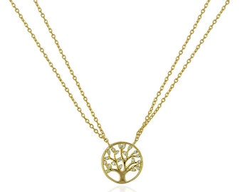 Sterling Silver Tree of Life Necklace, Family Tree Jewelry, Isabella Celini