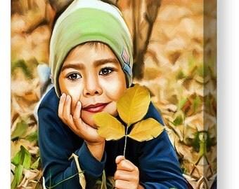 Boy kid customized Digital Painting