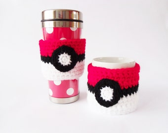 Pokémon Cup Cosies / Travel Cup Cosy / Mug Cosies / Crocheted / Acrylic Yarn / Machine Washable / Cup Cozy / Cup Cozies / Ready to Ship