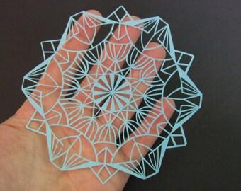 Mandala Papercut Template, Personal Use, Geometric Paper Cut Template, Mandala Paper Art, Cut Your Own, Geometric Paper Art