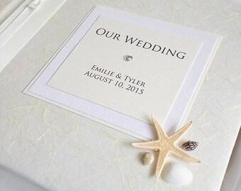 Medium - Beach Shell & Starfish Wedding Celebration Honeymoon Photo Album