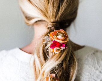"""The """"Anti Crown"""" : Flower Hairpiece for Braids + Updos"""