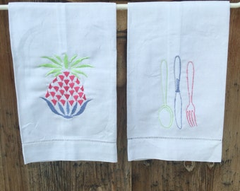 Kitchen motif tea towels