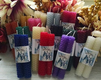 BeesWax Mini Spell Candles Ritual Sampler Candles Chime Candles