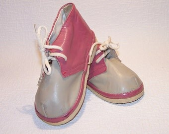 Vintage Soviet Boots For Babies. Genuine Leather Baby Shoes. Children's Shoes Made in the USSR.  Booties For Kids.