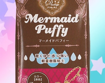 Mermaid Puffy Choco Water Resistant Air Dry Clay - Padico Japan Decollage for Fake Sweets & Charms