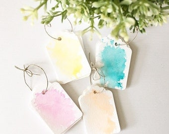 Watercolor Gift Tags // Set of 6 // Gift // Wrapping // Special Occasion // Handmade