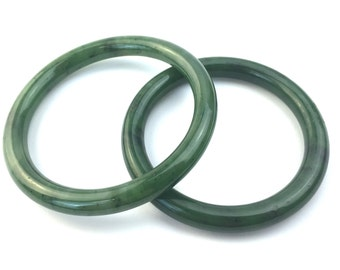 Canadian Nephrite B Grade Bangles - 55mm,60mm, 65mm and 70mm- Natural Jade - Bangle - Fathers day sale - 15% off - promo code: DAD2017