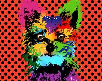 Yorkshire Terrier Art Yorkshire Terrier Pop Art dog pop Art Yorkshire Terrier Print Yorkshire Terrier Painting Yorkshire Terrier art print