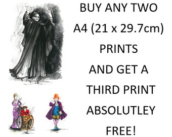 Buy any two A4 (21 x 29.7cm) prints and get a third print ABSOLUTELY FREE!