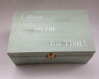 Essential oil storage box, wooden storage box, wood box