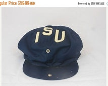 ON SALE Vtg 80s 90s Indiana State University Sycamores Snap Back Hat One Size Newsboys Vintage