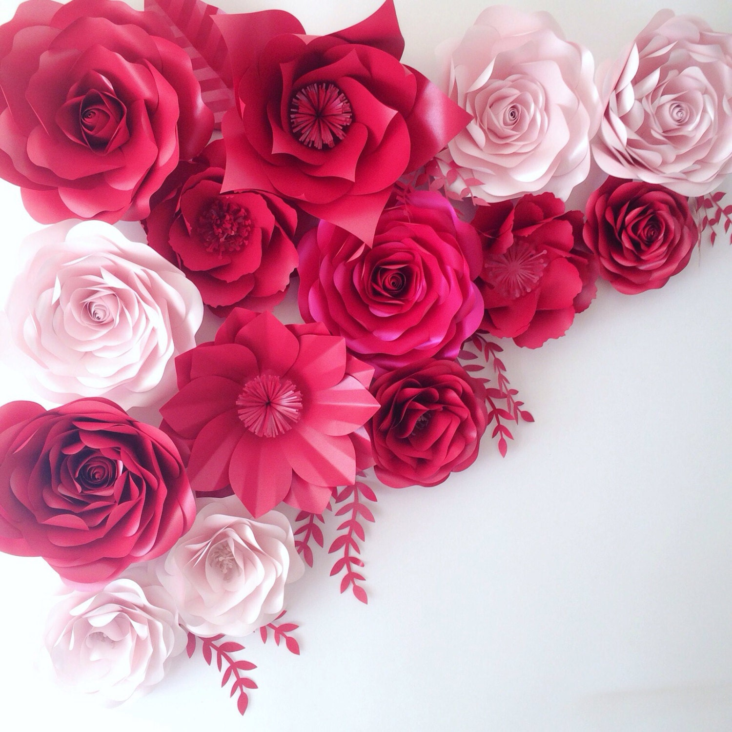 large paper flowers wedding decoration ideas by