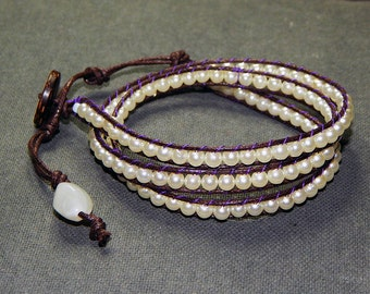 Wrap beads pearly