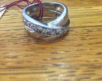 Vintage Costume Faux Diamond Ring