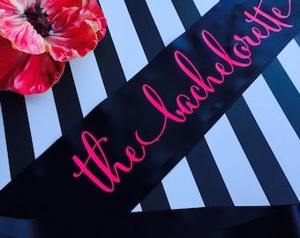 The Bachelorette Sash, The Bachelorette, Bachelorette Sash, Bachelorette Party Sash, Bride Sash, Bachelorette Party Gift, Bride To Be