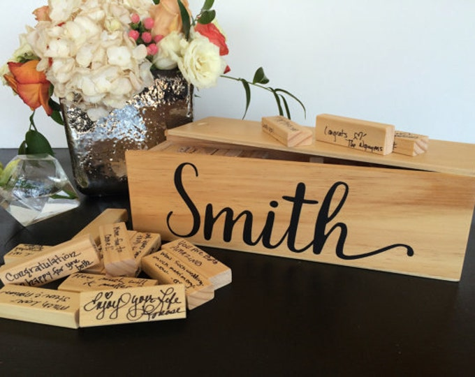 Jenga Guest Book - Personalized Wedding Guest Book