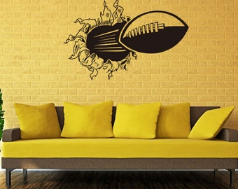 3D American football DECAL, Ruby game moment decal, football time decal