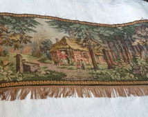 Lovely Hansel and Gretel gobelin tapestry wall rug wall carpet! More than 50 years old 150x 70 cm.
