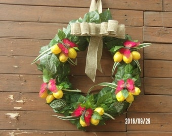Lemon and Butterfly Wreath