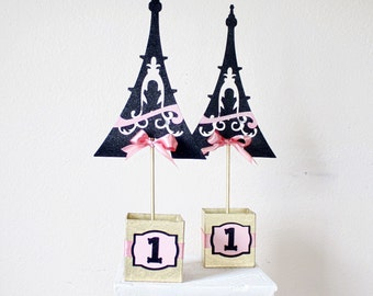 Eiffel Tower Centerpiece - Eiffel Tower Decor - Eiffel Tower Decorations - Paris Centerpiece - Paris Party Decor - Baby Shower Centerpieces