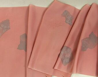 Vintage Japanese Kimono Fabric Traditional Pattern Flower Arabesque