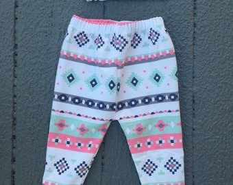 Tribal Print Leggings, baby girl outfit, coming home outfit, hospital outfit, baby shower gift