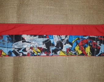Super Hero-Thor-Spiderman-Iron Man-Red-Crayon Roll-16 Count