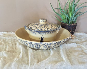 Vintage Robinson Ransbottom Set of two Pieces / Robinson Ransbottom Large Pasta Bowl