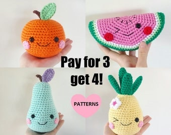 Fruit Bundle, 4 PDF patterns for the price of 3!