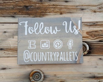 Wooden sign, Social media craft show display, Custom sign,  Wood signs sayings